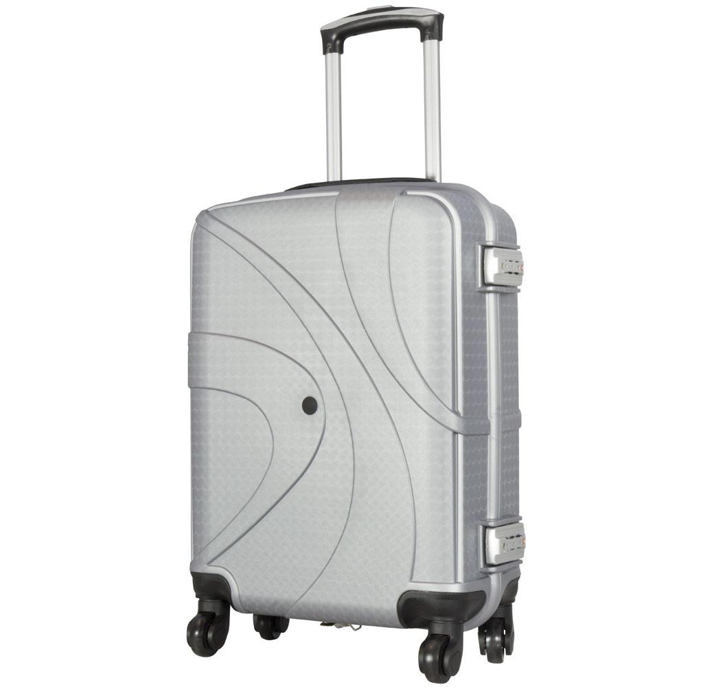 1 koffer handgep ck hartschale gr e s farbe silber. Black Bedroom Furniture Sets. Home Design Ideas