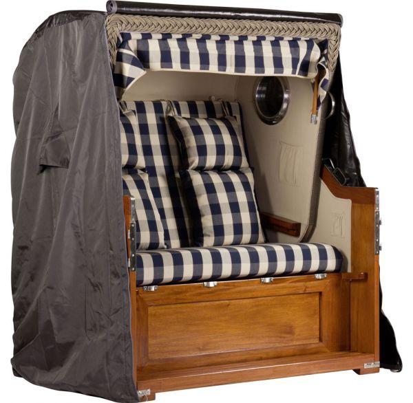 Abdeckhaube für Mahagoni Luxus Strandkorb 2,5-Sitzer ca.137x160x100cm (BxHxT)