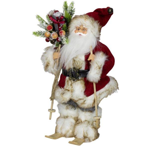 Weihnachtsmann 30cm Laurin auf Ski