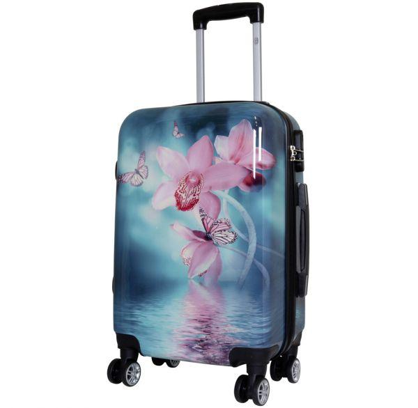 Polycarbonat Koffer Orchidee Größe S