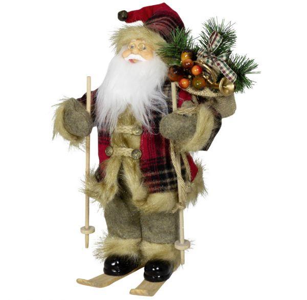 Weihnachtsmann 30cm Corvin auf Ski