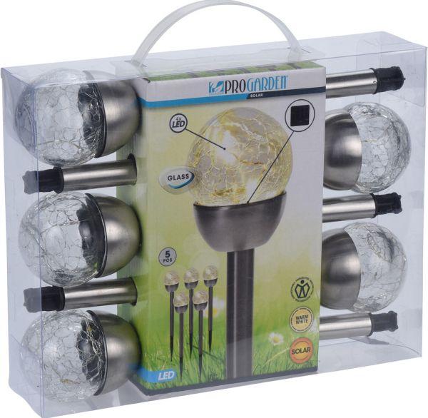LED Solarlampen Set 5tlg