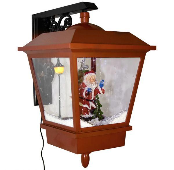 Schneiende LED Wandlaterne Santa 35cm