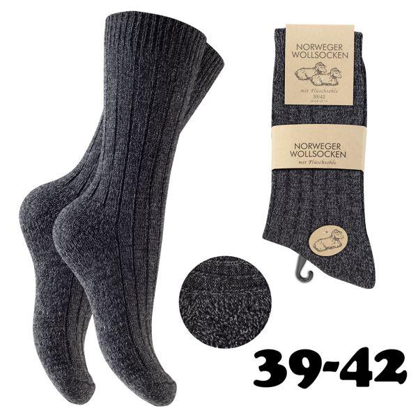 6 Paar Norweger Wollsocken für Damen und Herren
