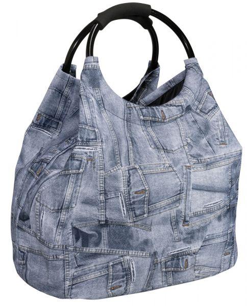 Freizeittasche Jeanslook Breite veränderbar