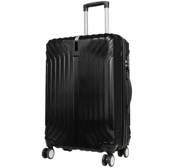 abs koffer und kofferset palma schwarz hartschale trolley reisekoffer reiseset ebay. Black Bedroom Furniture Sets. Home Design Ideas