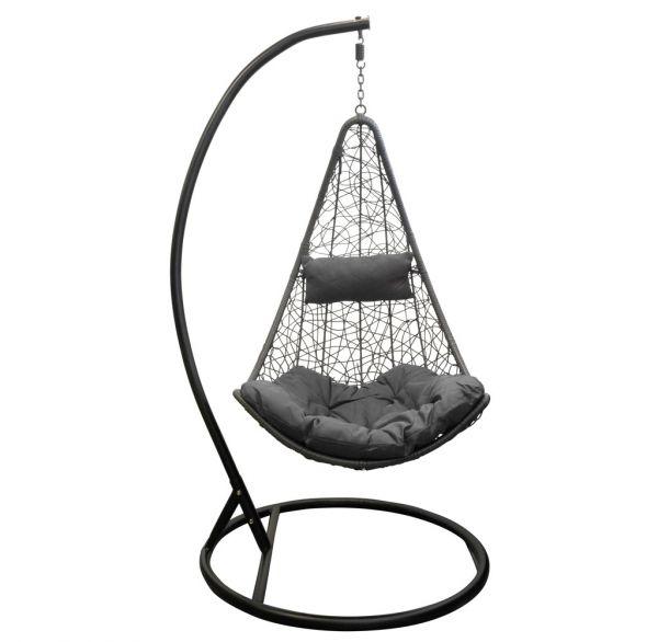 polyrattan h ngesessel mit gestell h ngeliege gartenliege indoor outdoor ebay. Black Bedroom Furniture Sets. Home Design Ideas