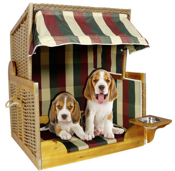 36886 Luxus Hunde Strandkorb Hundehütte