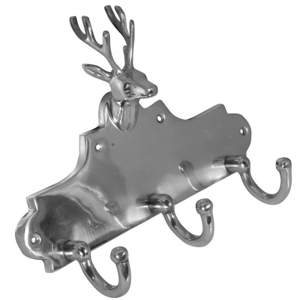 Deko Hirschgeweih Kleiderhaken aus Aluminium 31x24cm