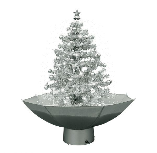 Weihnachtsbaum mit Schneefall 75cm silber