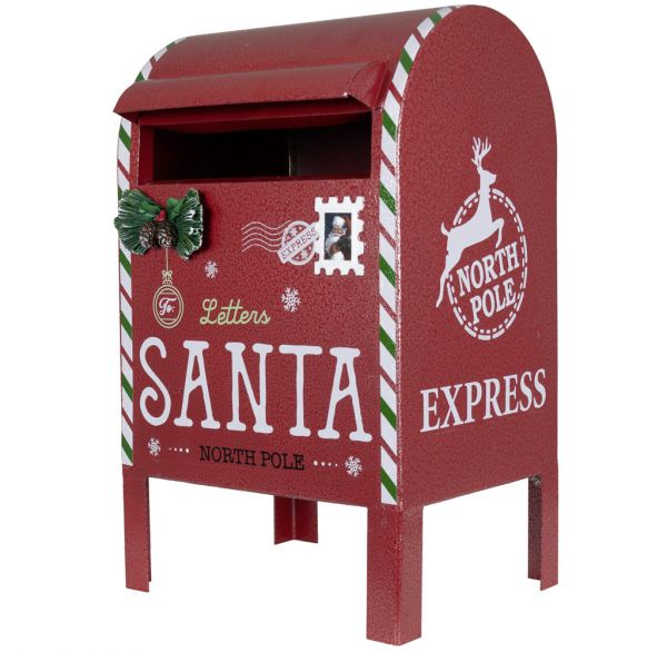 Weihnachtlicher Deko Briefkasten 34cm aus Metall