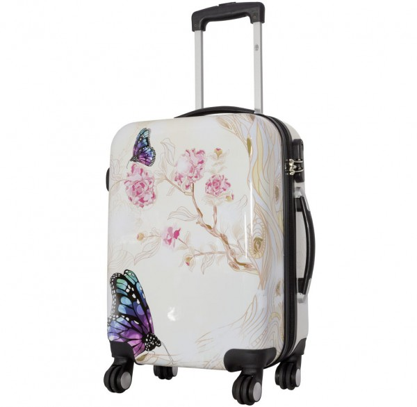 Polycarbonat Koffer Butterfly II Größe S