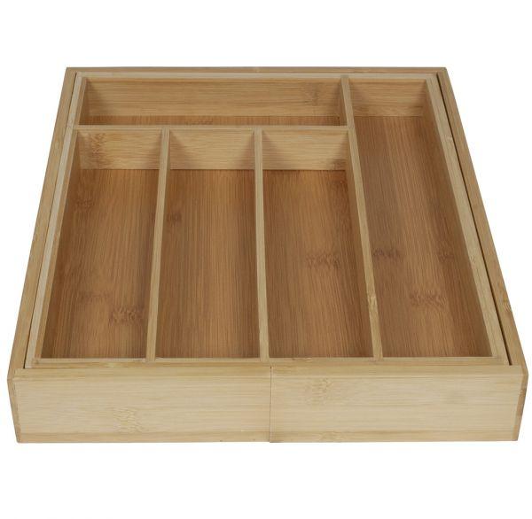 Besteckkasten Schubladeneinsatz aus Bambus