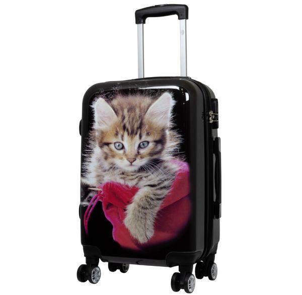 Polycarbonat Koffer Katze Größe S