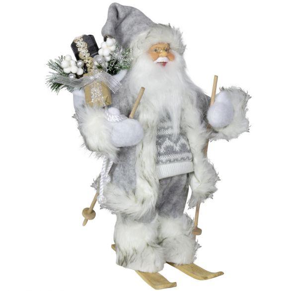 Weihnachtsmann 30cm Willi auf Ski