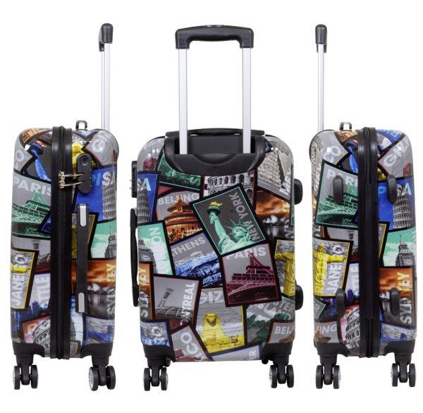 hartschale koffer bedruckt bunt weltreise reisekoffer xxl. Black Bedroom Furniture Sets. Home Design Ideas