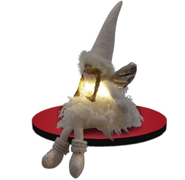 Dekofigur Engel 20cm Kantenhocker mit LED