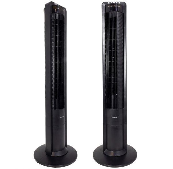 Turmventilator schwarz 110cm